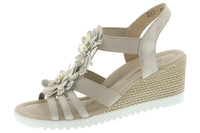 nouveau concept ef2b9 8cc26 Rieker: chaussure femme nu pied compensé beige