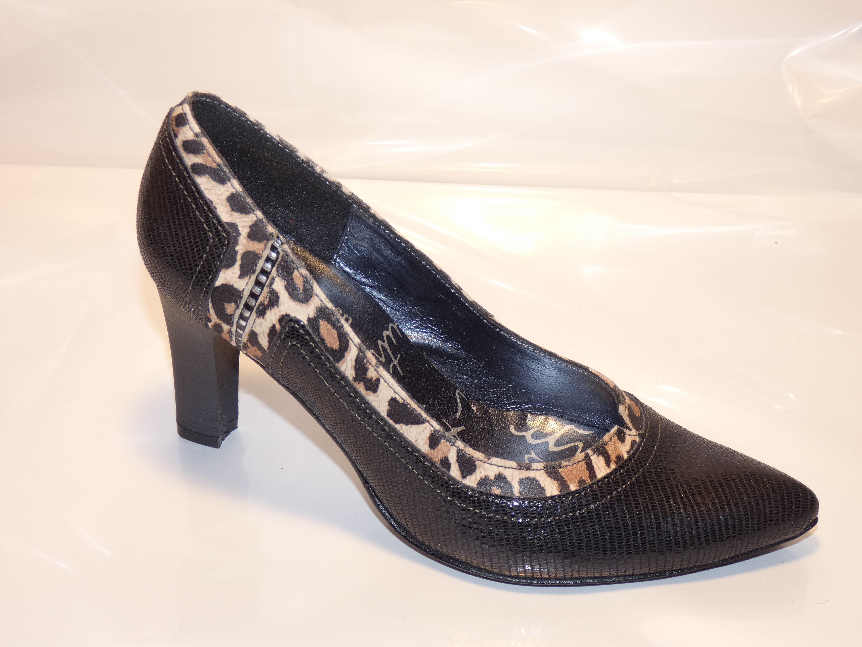 EN de chaussure UN escarpin TOUR série VILLE femme Fin léopard et noir xOdqYwSn